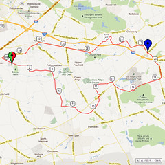 18. Bike Route Map. Hamilton Area YMCA, Crosswicks, NJ
