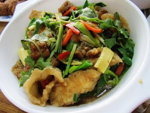 Fish fillet & fish maw veg combo