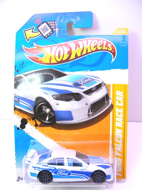 hot wheels ford falcon race car white (1)