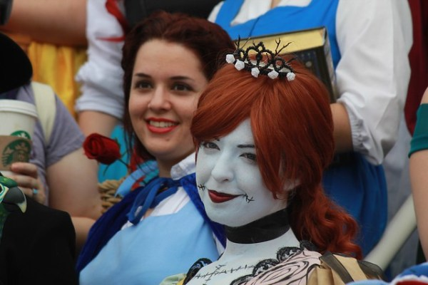 Disney cosplay meet-up group photo at MegaCon 2014