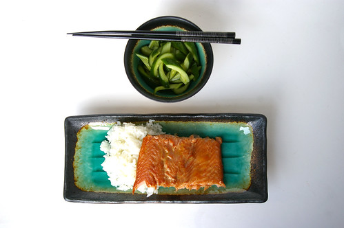 Teriyaki trout with quick pickles II