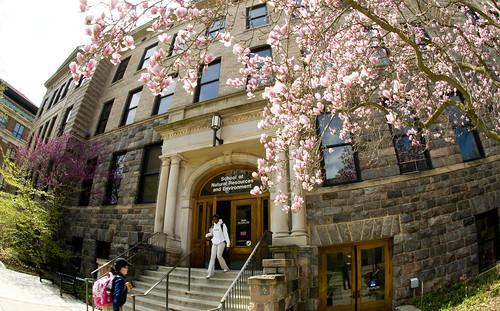 Dana Building in spring