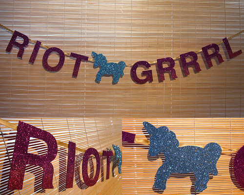 Riot Grrrl Ombre Banner