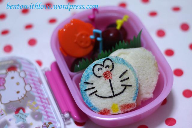 Doraemon Sandwich Bento for her