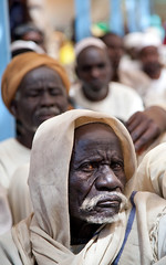 Leaders in Darfur Camp Voice Concerns by United Nations Photo