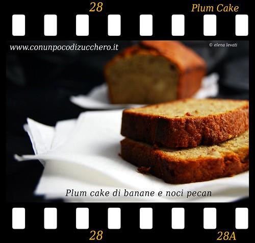 Plum cake banane e noci