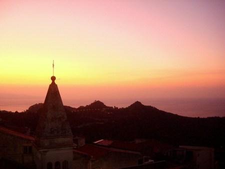 Sunrise overlooking Savoca.