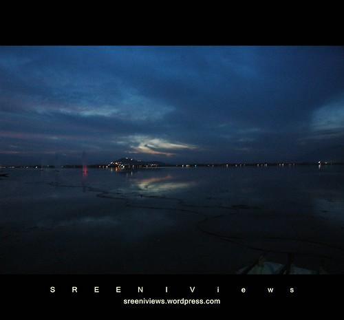 Twilight on Dal lake, Srinagar, Kashmir, India