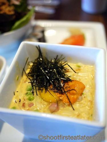 Morimoto Napa- sea urchin carbonara set-1