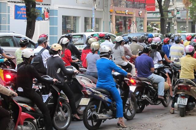 Motorbike Traffic Jam