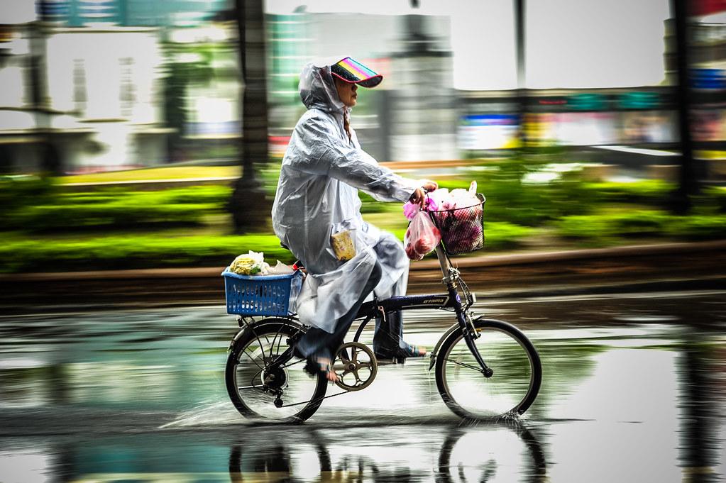 Tainan Bicycle in the Rain
