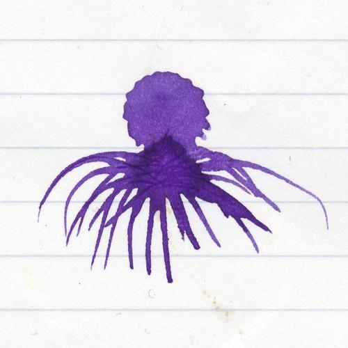 Purple ink octopus
