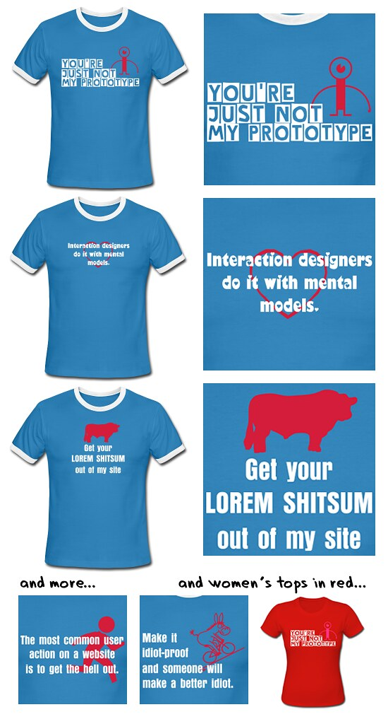 T-shirts for interaction designers