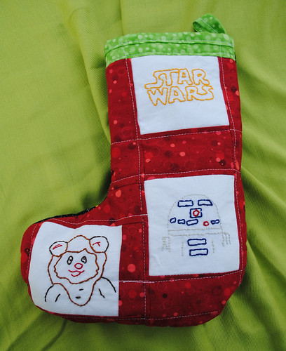 Christmas Stocking front of Aidans