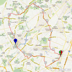 01. Bike Route Map. Cranbury NJ
