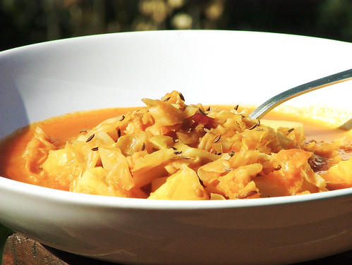 Armenian Cabbage soup with kumin