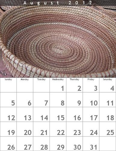 Tito's Pineneedle Basket, August Calendar #freeposter #oaxacatoday @BigHugeLabs