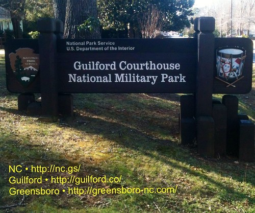 GUILFORD COURTHOUSE NATIONAL MILITARY PARK by Greensboro NC
