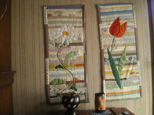 Fleurs marguerite tulipe