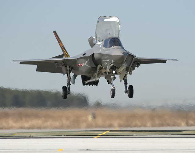 F-35B test landing. Lockheed Martin photo.