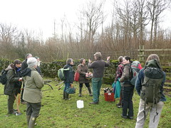 Volunteers being welcomed to the woods