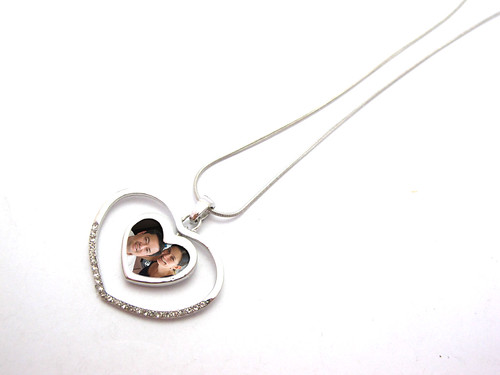 Alloy Heart with Rhinestones