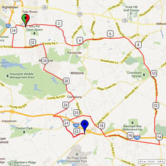 20. Bike Route Map. Etra Lake Park, Hightstown, NJ