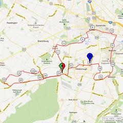 16. Bike Route Map. Somerset Valley YMCA, Hillsborough, NJ