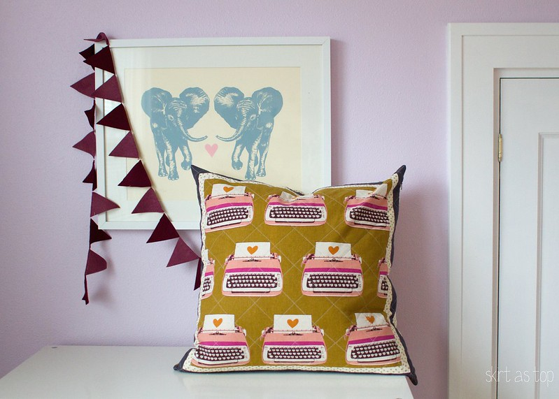 melody miller typewriter pillow