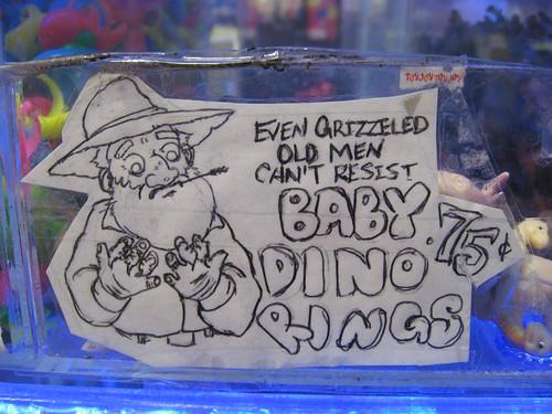 Baby dino rings