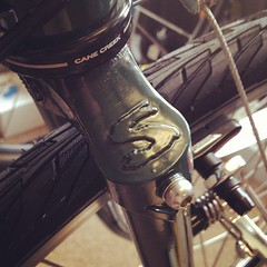 Nice Fork Detail and New Rack Mounts On The Surly LHT