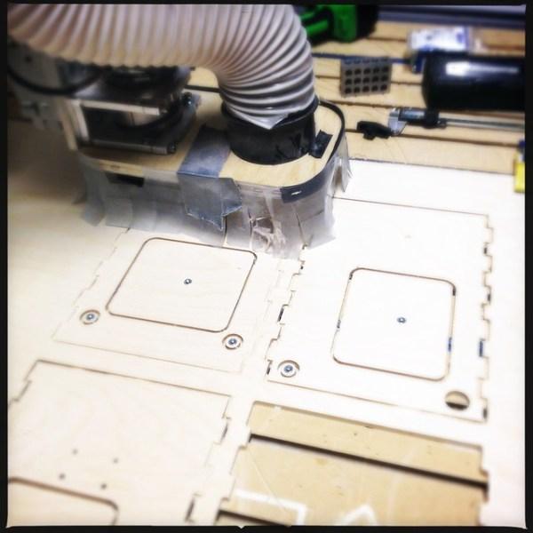 CNC milling a frame for a 3d printer
