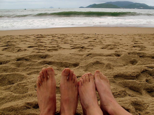 Nha Trang Beach Feet