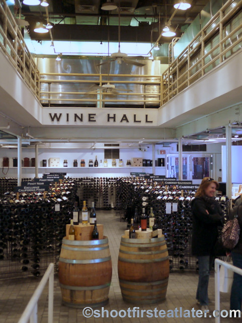 Dean & Deluca Georgetown DC wine hall