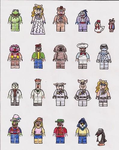 Muppet LEGO Minifigures Designs