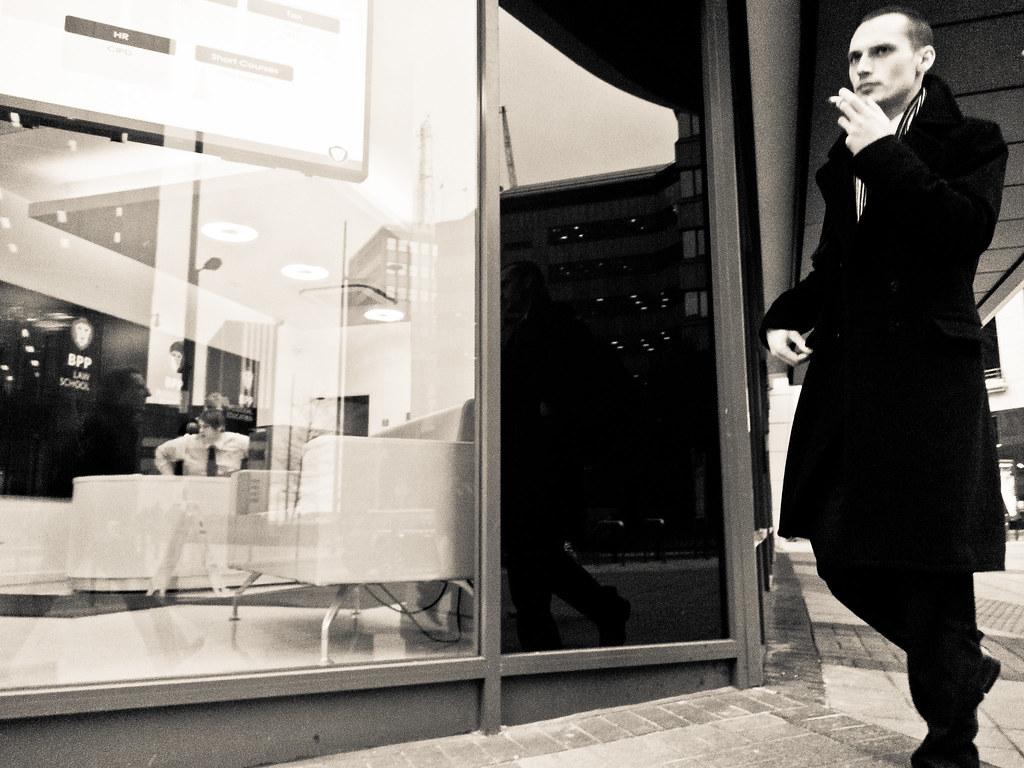 Man with Cigarette - Birmingham 2012