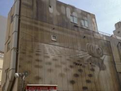 No.2 いまは駐車場になってる壁面にアート