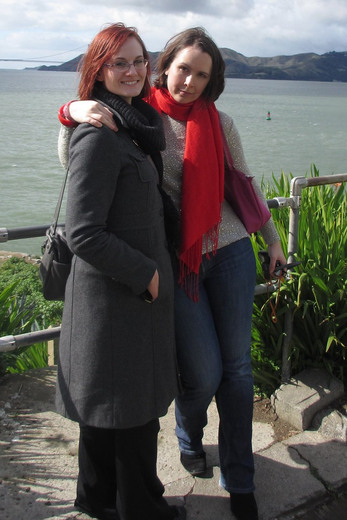 With Lisa at Alcatraz. Photo by Pat.