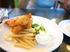 Fish and chips, Cornerstone Restaurant, Bishan Park 2