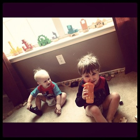 Little Construction Workers #blocks #toys