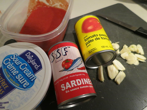 Spicy sardine penne a la vodka