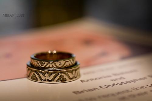 Our rings' motif symbolize our union