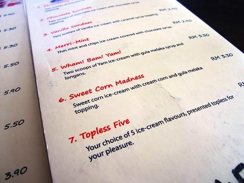 Anson ice cream menu