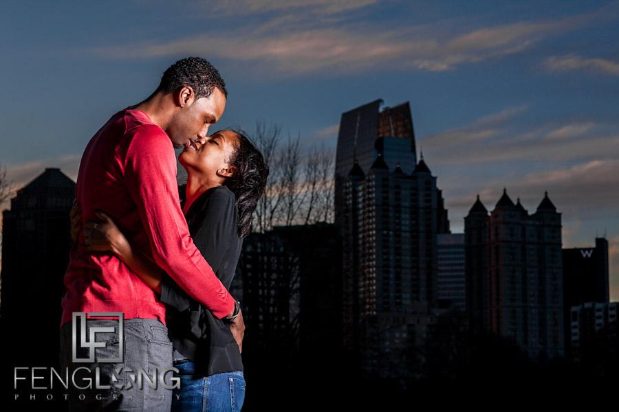Justin & Nnete's Surprise Engagement Session | Piedmont Park | Atlanta Midtown Wedding Photographer