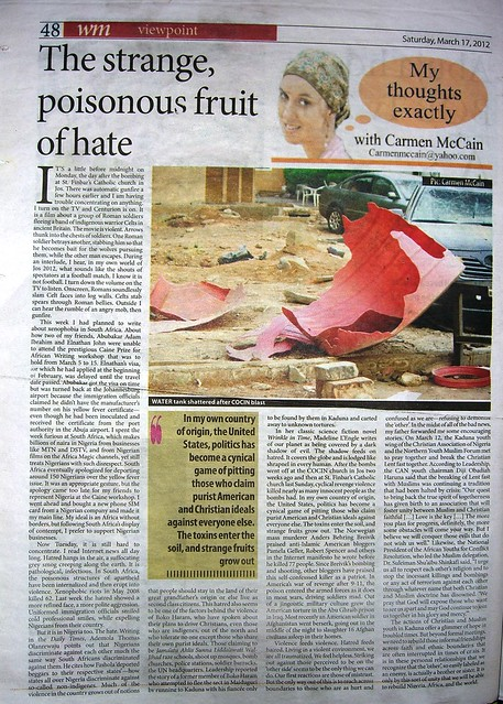 The Strange Poisonous Fruit of Hate: South Africa, Nigeria, and the world (4/4)