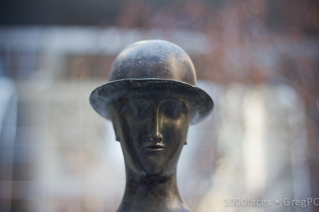 Face - statue of a man in a bowler