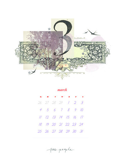 March Calendar - Vertical by FreePeopleFlickr