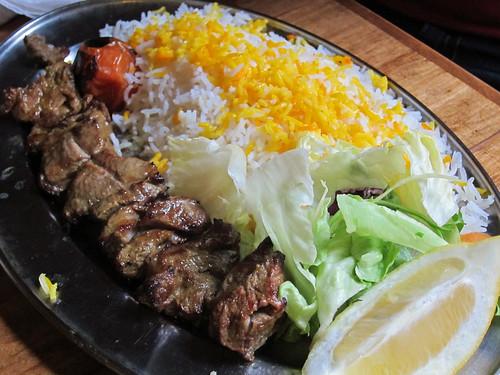 Lamb Kebab with Rice