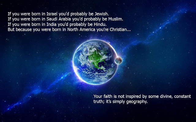 Faith is often about geography
