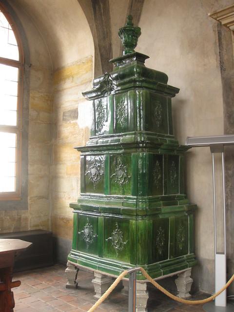 Old ceramic stove